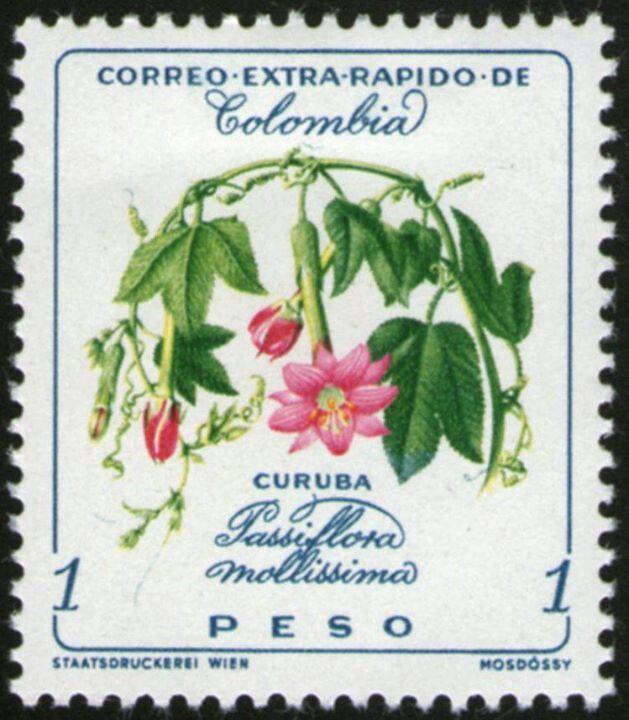 ¡¡¡FLORES COLOMBIANAS,EMITIDA EN 1960!!!