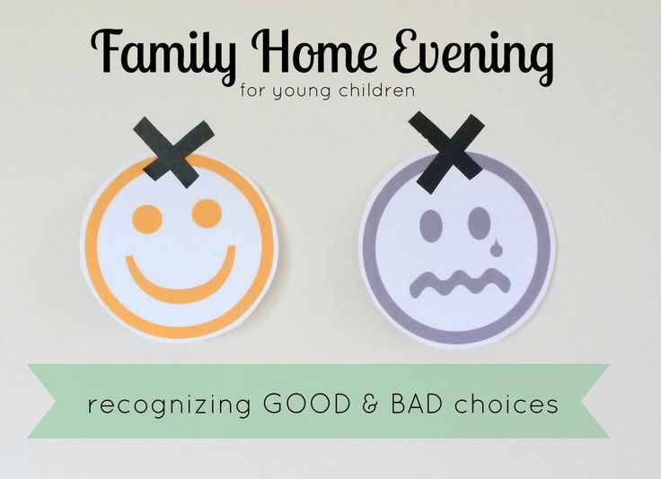 Fhe Recognizing Good Bad Choices For Younger Children Printable