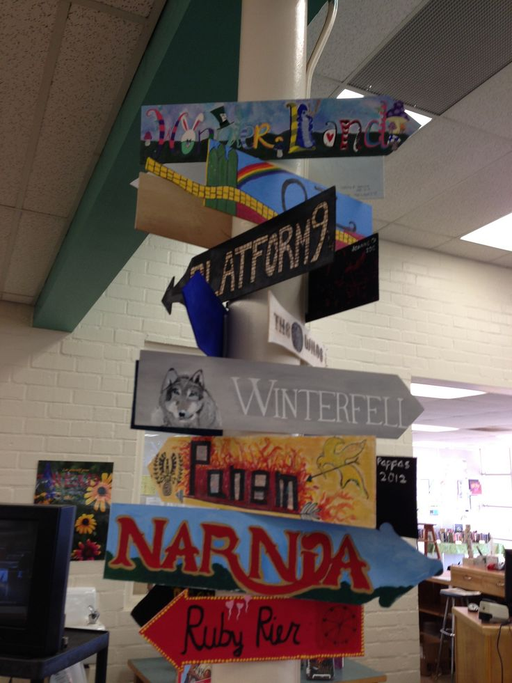 book place signs | Mira Costa High Library | Flickr