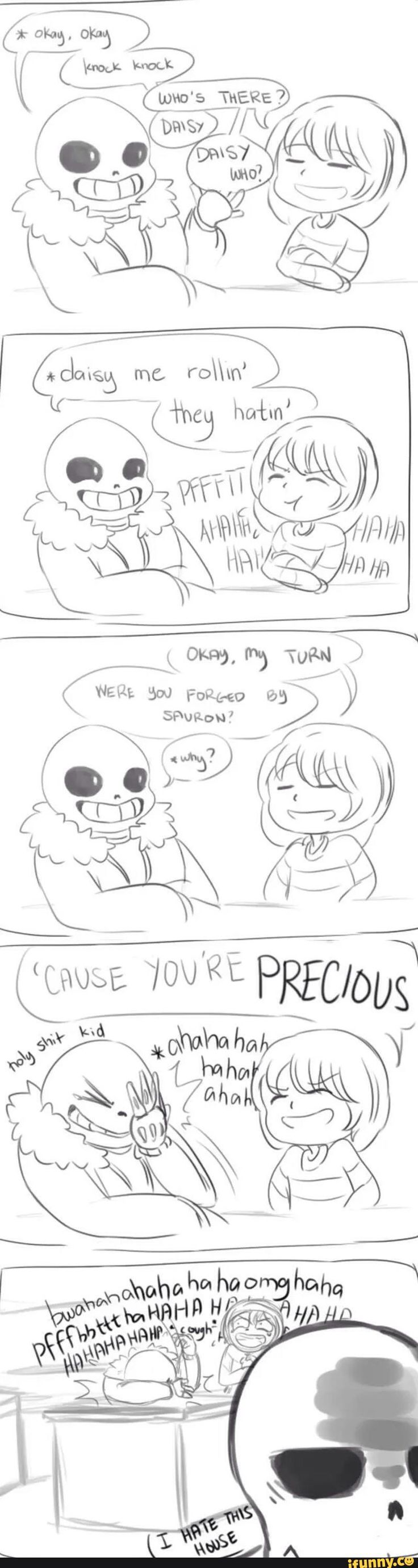 papyrus, sans, frisk, undertale || ME i would groan for puns but i would make puns that would make your life cringe