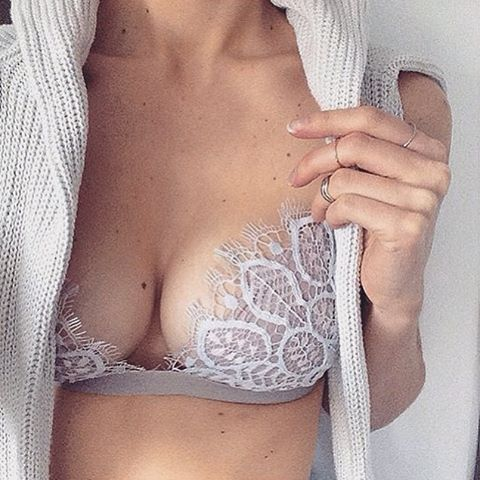 Morning lacey deets in the Penelope Bralette @brogankateintimates Shop with link in bio. #ForLoveAndLemons #DownToYourSKIVVIES