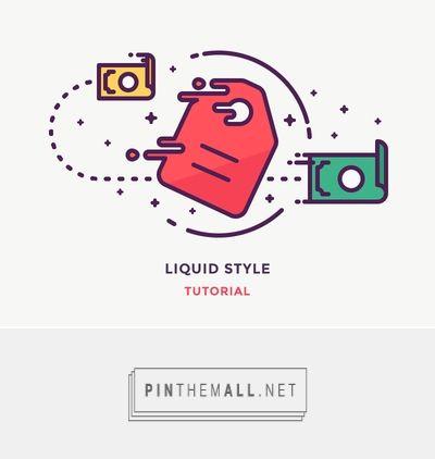 Dribbble - Liquid Style Tutorial by Justas Galaburda - created via https://pinthemall.net