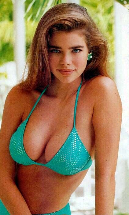 "One of my ""2015 Icons"" ..""Girl Next Door"" Denise Richards...Nice Bikini Cleavage 35-C Cup - 24-34.....HOT!"