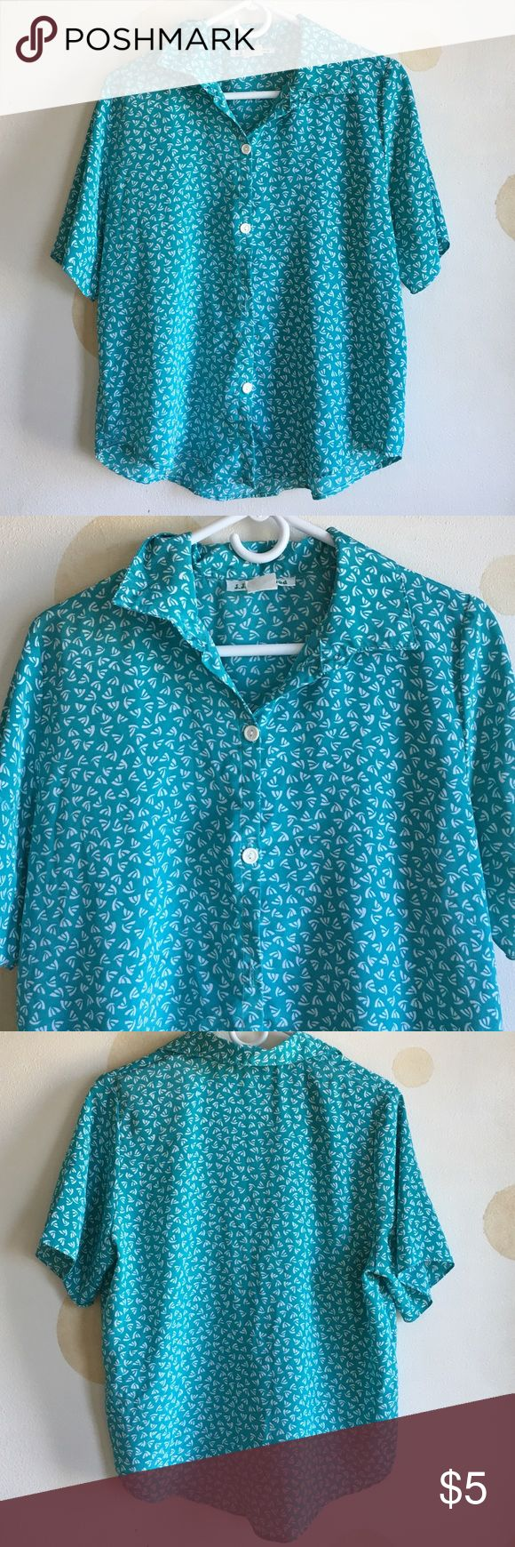 Women's sailor button down shirt Collar shirt button down. Fits true to size. No modeling no trades Tops Blouses