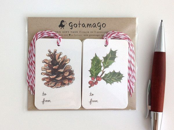Winter's Joy Gift Tags, Set of 10 by Gotamago