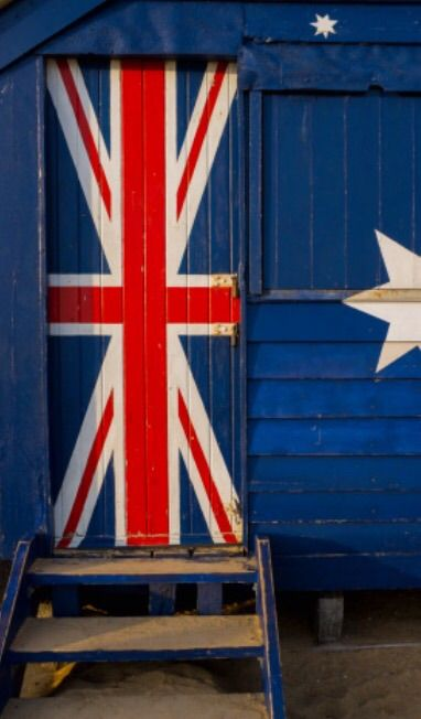 Union Jack door on Brighton Beach - Brighton, Victoria, Australia