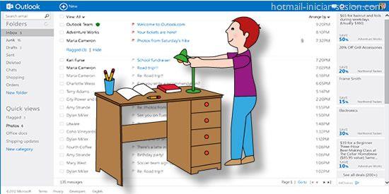 Cómo puedes hacer para organizar tu Hotmail / Outlook.com