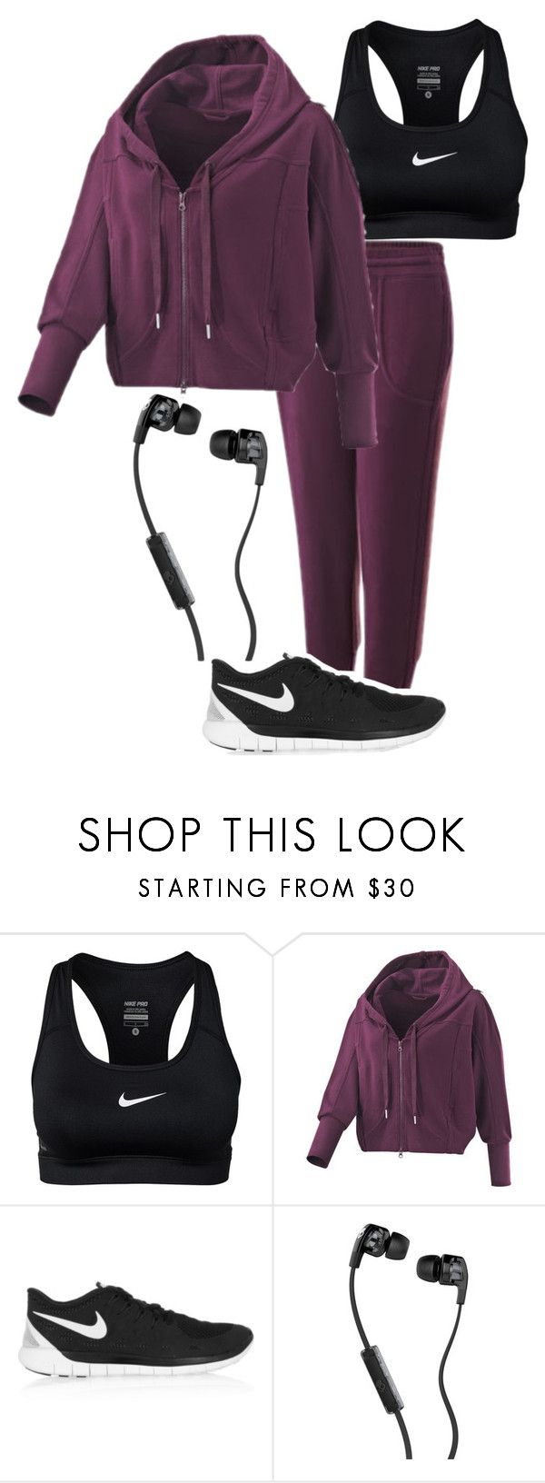 """Jogging Outfit"" by alpacaamazing ❤ liked on Polyvore featuring NIKE and Skullcandy"