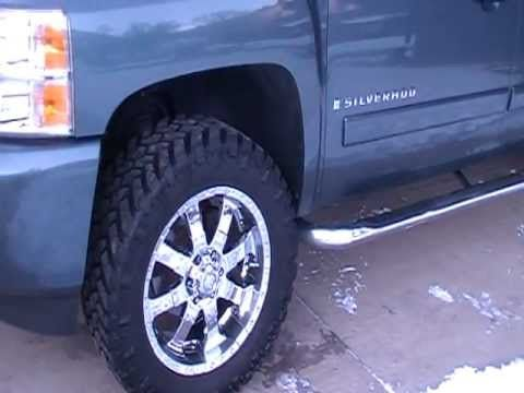 """2007 Silverado 20"""" wheels 305/55/20 Nitto Trail Grapplers How to trim th..."""