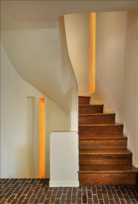 Staircase Andrew Rebori Art Moderne House Chicago IL