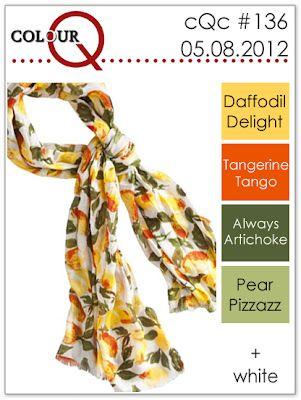 daffodil delight, tangerine tango, always artichoke, pear pizzaz