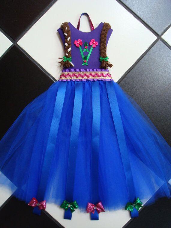 Tutu de pelo arco titular Anna Disney por somethinchicboutique