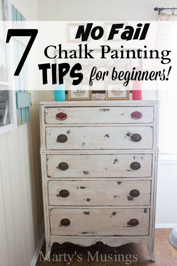 These 7 easy chalk painting tips for beginners will liberate you from perfectionism and get you hooked on the latest and most fun way to paint furniture and home decor accessories!