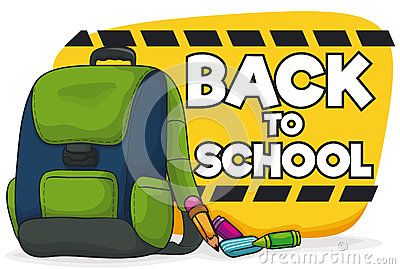 Backpack full with school supplies ready to Back to School.