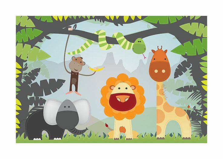 #DJ08, Jungle, 70 x 50 cm