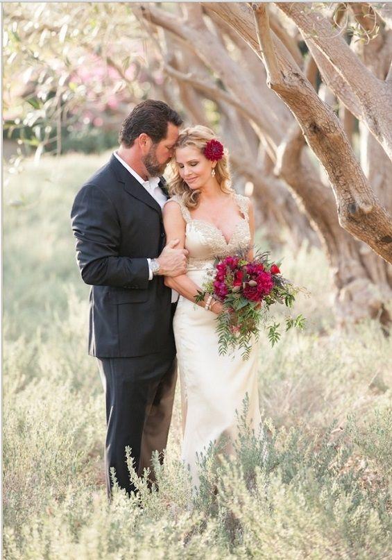Romantic NYE wedding at San Ysidro Ranch in Southern California. Photo by Melissa Musgrove via La Fete Weddings