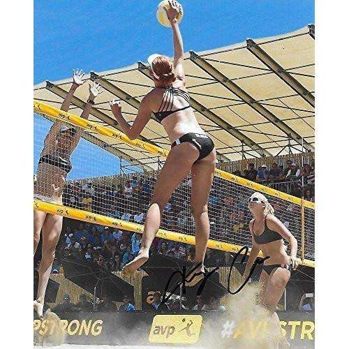 Kelly Clase, USA Olympic, Volleyball Player, USC Trojans, Signed, Autographed, 8x10 Photo, a COA with the Proof Photo of Kelly Signing Will Be Included