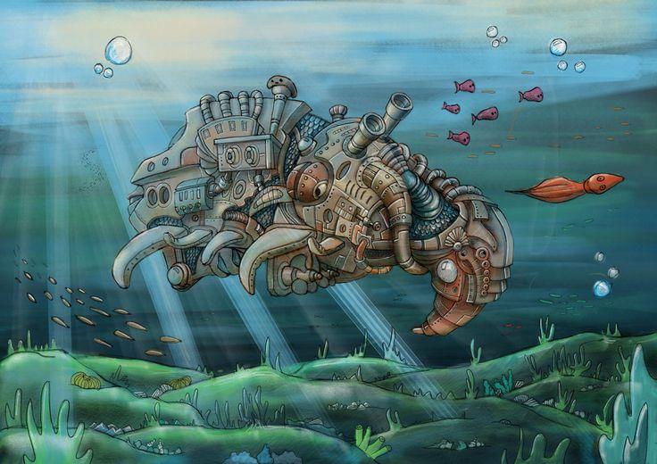 Caroline fangel The old Whale Walter #2Dart #digitalart #simple #illustration #procreate #ipad