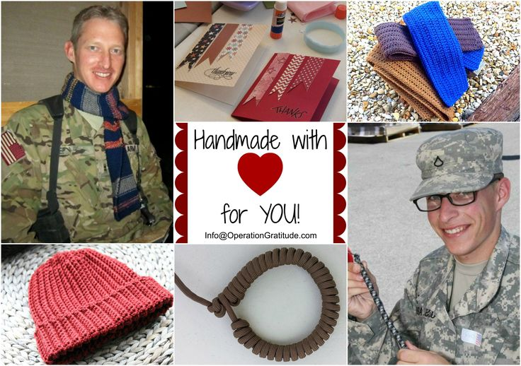"""Are you """"crafty"""" and looking for ways you can use your time and talents to help us support deployed troops, veterans and wounded warriors? Here are some ideas for you!"""