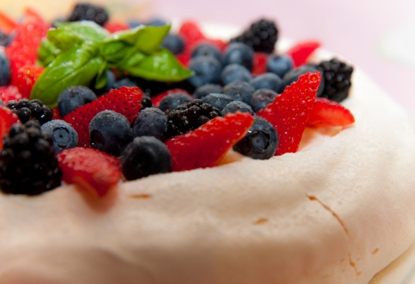 Pavlova - yum! Kiwis and Aussies disagree over who created it first, but both agree it's delicious.