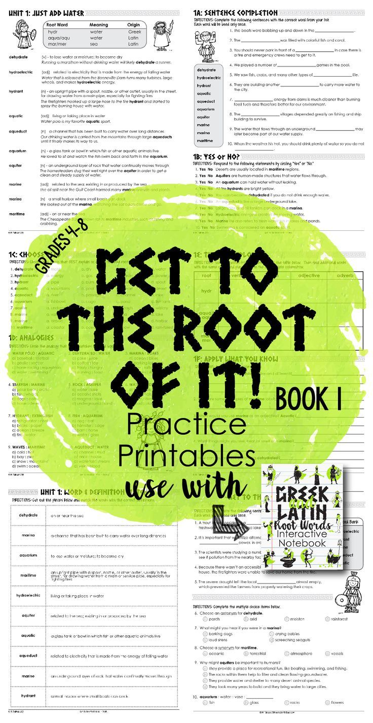 Over 250 pages of Greek and Latin root word work and activities for grades 5-8. Assessments, game cards, and word walls are also included! $