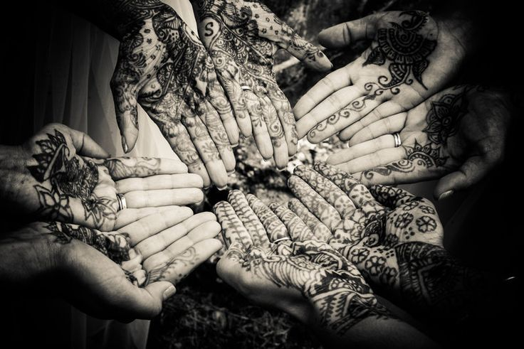 Bridal party with henna detail photo Jenica+Josh Photo By Sherry Sutton Photography