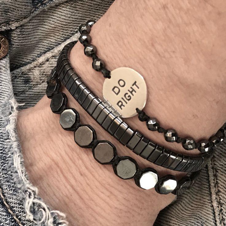 Hematite Beaded Bracelets