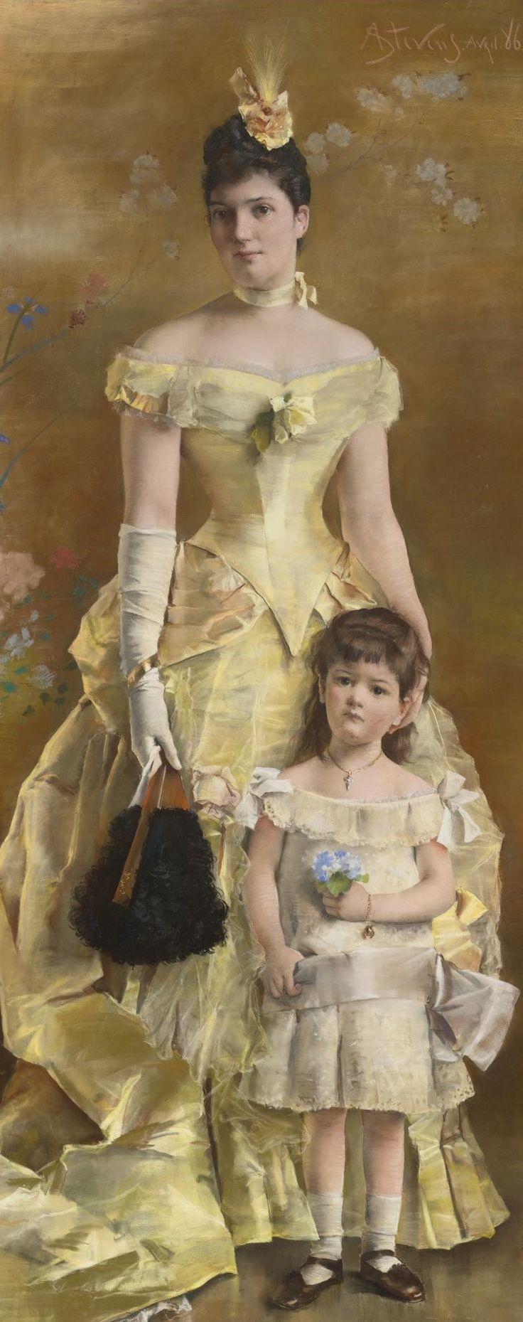 Alfred Stevens (1823 - 1906) - La baronne de Bonhome, 1886