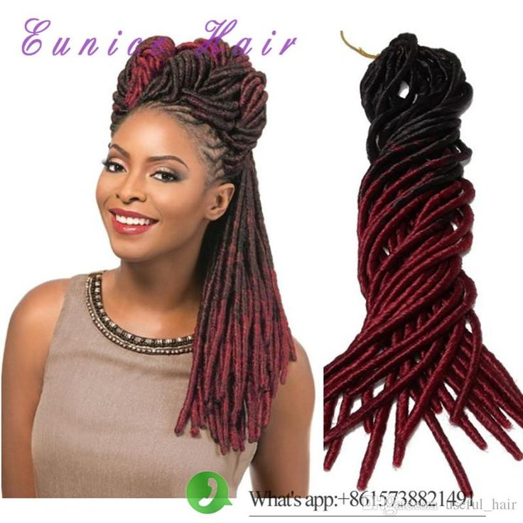 27 best crochet faux locs dreadlocks hair images on pinterest two tone straight dreadlocks braids drop shipping free shipment synthetic hair extension 20strandspcs faux locs synthetic braiding hair pmusecretfo Image collections