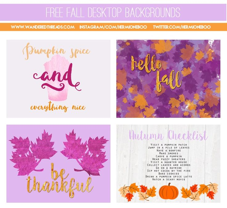 Free Fall Desktop Backgrounds and Printables | HermioneBoo, Wandered Threads