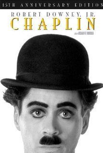 1993. Chaplin. Robert Downey, Jr. should have won the best actor Oscar for this, but didn't. He is spot-on as Charlie Chaplin. Good Good Film!  If you want to see RD,Jr at his finest, check this one out!