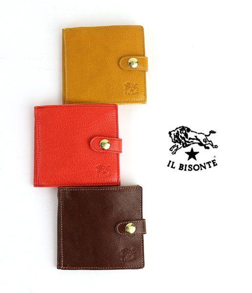 IL BISONTEバッファローレザー 二つ折り 財布
