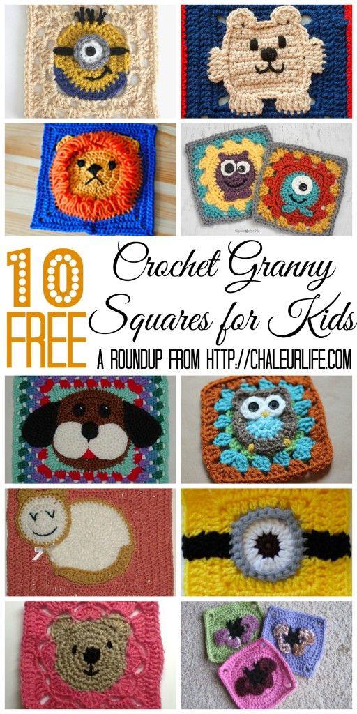10 Free Crochet Granny Squares for Kids
