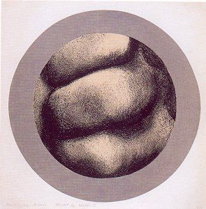 Baranyay András: Részlet egy kézből I. (1968, litográfia, 61 x 61 cm)