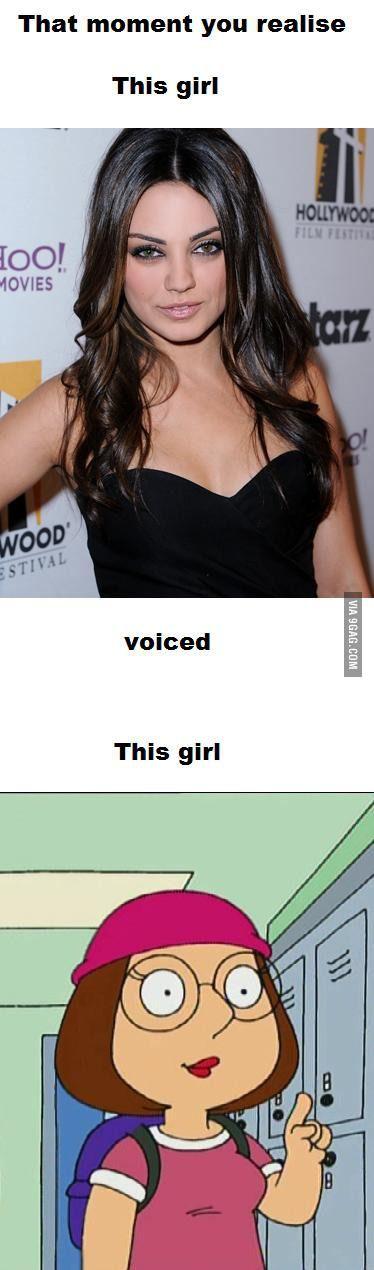 Mila Kunis & Meg Griffin | Mila Kunis vs. Meg Griffin