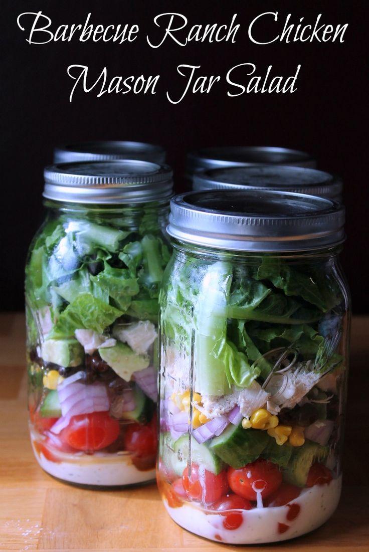 Barbecue Ranch Chicken Mason Jar Salad | Recipe ...