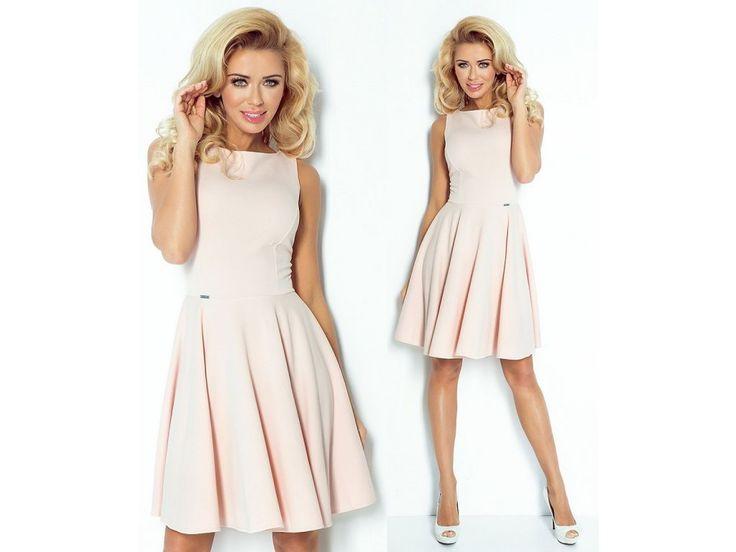 Růžové koktejlové šaty SAF, S, M, L, RYCHLÉ DODÁNÍ - Bestmoda - baby pink evening dress in stock