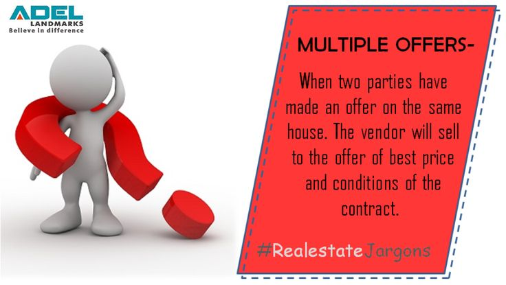 Do you know what #multipleoffers mean in #realestate terminology? Here's the answer to this #realestatejargon