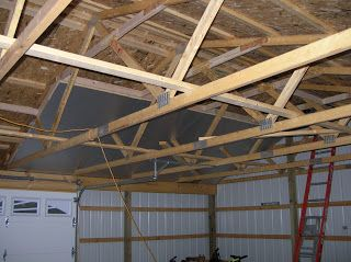 Insulating and finishing a pole barn garage for a year round workshop