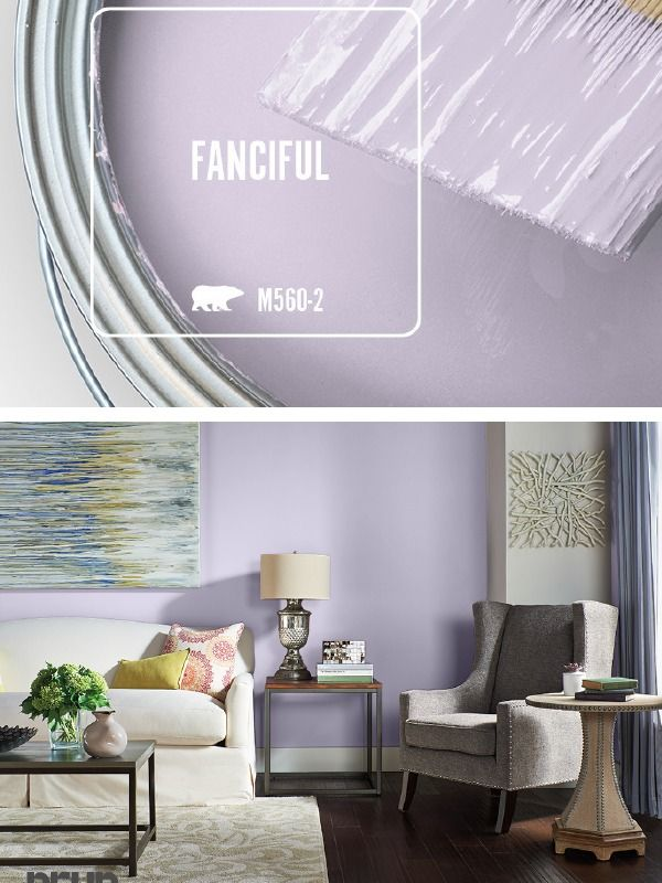 We Can T Get Enough Of The Light Purple Hue Of Fanciful The Behr Paint Color Of The Month Whether It S In T Purple Living Room Living Room Colors Room Colors