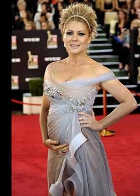 Natalie Bassingthwaite graces the red carpet in J'Aton Couture at Logies 2010