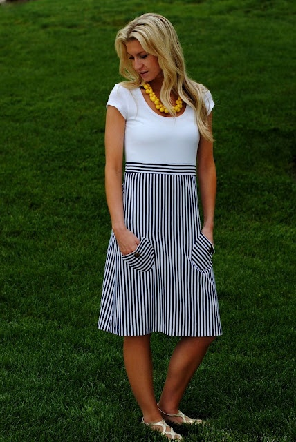 Nautical Dress tutorial from Elle Apparel
