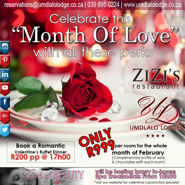 #LoveIsInTheAir Enjoy our #MonthOfLove perks & promos More info ON OUR WEBSITE. LINK IN BIO #wowsouthafrica #kznsouthcoast #MeetSouthAfrica