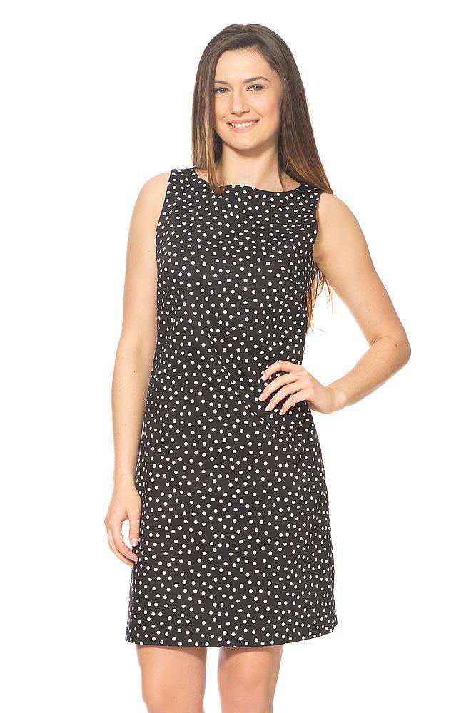 Kleid mit Punkten, Schwarz - ORSAY Online Shop