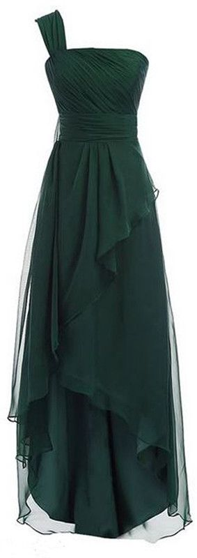 Hunter Green Prom Dress,One Shoulder Prom Dress,A Line Prom Dress,Fashion Prom Dress,Sexy Party Dress, New Style Evening Dress