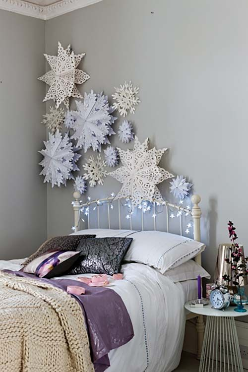 35 ways to create a christmas wonderland in your bedroom - Ways To Decorate Bedroom Walls