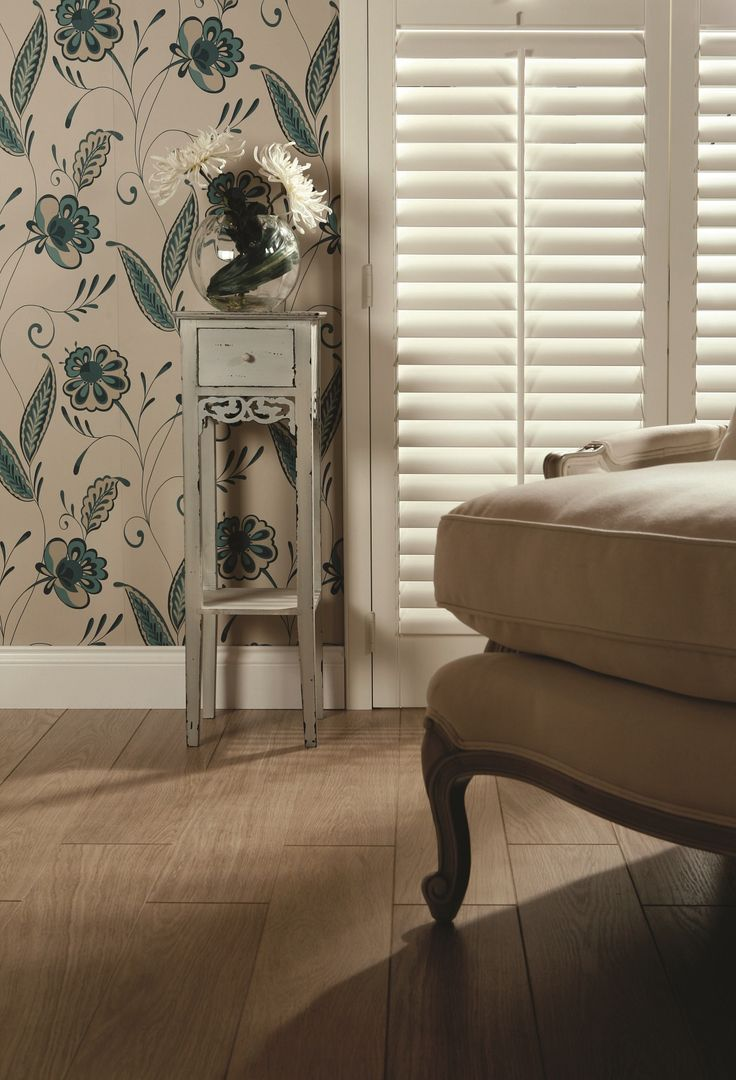 White lounge shutters by Apollo. Home decor inspiration.