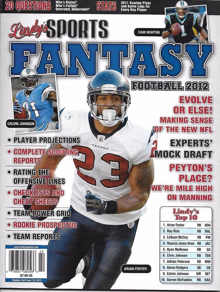 Lindys Sports Fantasy Football magazine Player projections Scouting reports