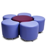Podz Ottomans Large classroom ottomans soft furnishing melbourne sydney brisbane - Victorian Educational Furniture