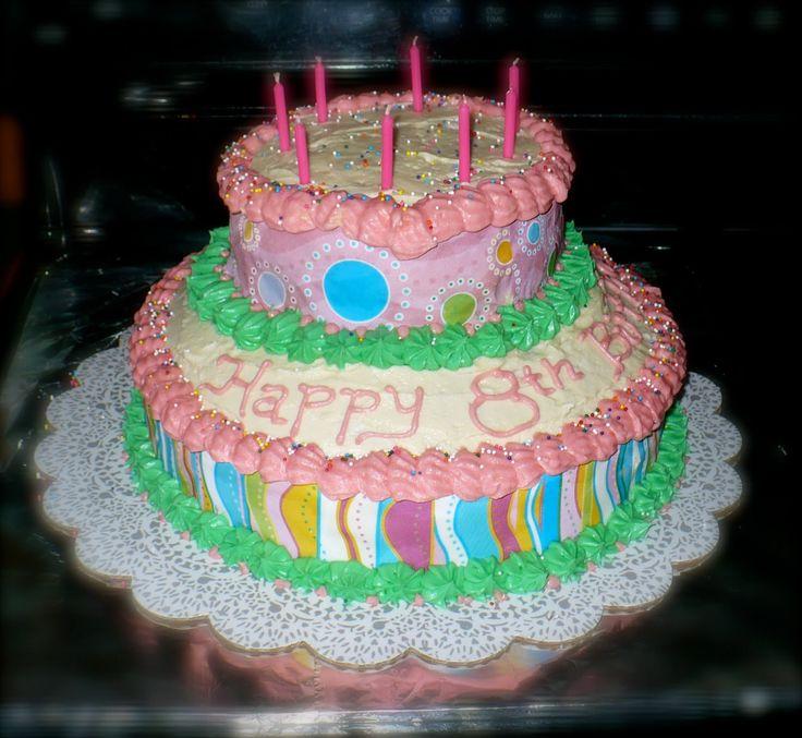 Girls Birthday Cakes | Pete's Island: Girls 8th Birthday Cake!